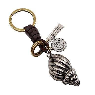 Łańcuszek do kluczy Biżuteria Silver Nieregularny Skórzany Stop Klasyczny Modny Prezent Wyjściowe Męskie