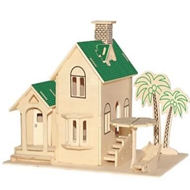 voordelige 3D-puzzels-3D-puzzels Legpuzzel Modelbouwsets Huizen Mode Huis Kinderen Nieuw Design Hot Sale 1 pcs Klassiek Modern / Hedendaags Modieus Kinderen Speeltjes Geschenk / DHZ