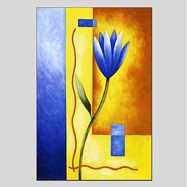 Hang-Ölgemälde Handgemalte - Blumenmuster / Botanisch Modern Segeltuch