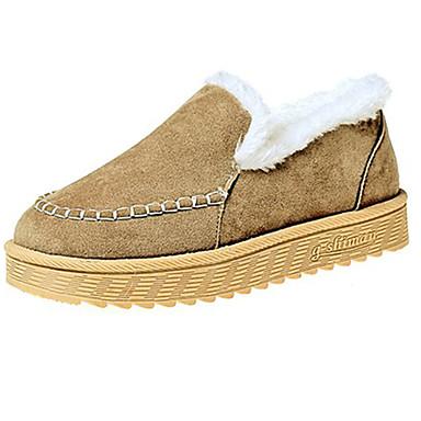 Damskie Obuwie Guma Zima Comfort Mokasyny i pantofle Okrągły Toe na Na wolnym powietrzu Black Gray Khaki