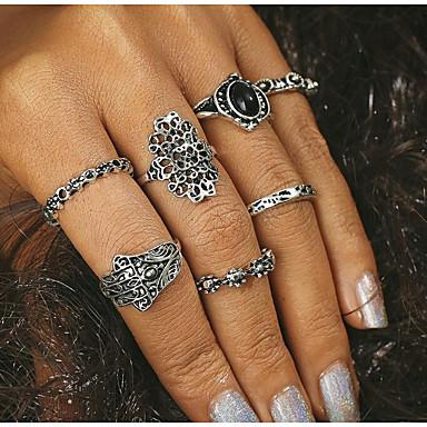 Damskie Pierścionki na środek palca - Stop Silver