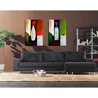 Aufgespannte Leinwandrucke Zeitgenössisch,1 Quadratisch Hang-Ölgemälde Wand Dekoration Haus Dekoration
