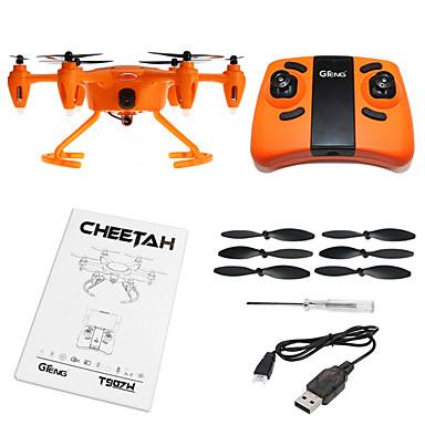 RC Dron T907W 4 kanały Oś 6 2,4G Z kamerą HD 0.3MP Zdalnie sterowany quadrocopter Powrót Po  Naciśnięciu Jednego Przycisku / Tryb Healsess Zdalnie Sterowany Quadrocopter / Aparatura Sterująca / Kabel
