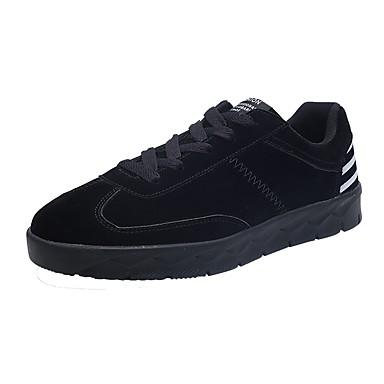 Herrn Schuhe PU / Schweineleder Frühling / Herbst Komfort Sneakers Schwarz / Grau / Braun