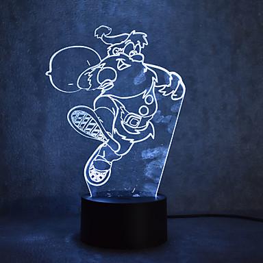 1szt 3D Nightlight Z portem USB 0,5