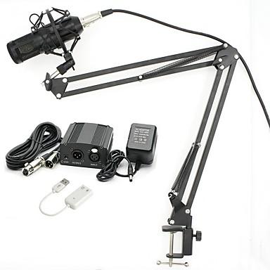 KEBTYVOR BM800 Przewodowa Mikrofon Zestawy Mikrofon kondensatorowy Mikrofon ręczny Na PC, notebooków i laptopów