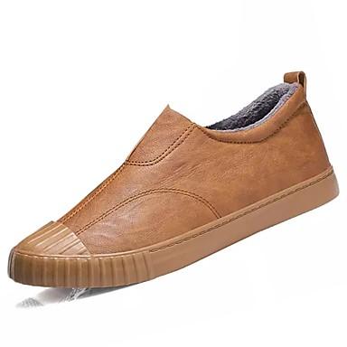Męskie Buty Syntetyczny Microfiber PU PU Derma Zima Comfort Mokasyny i pantofle na Casual Black Gray Brown