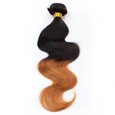 Włosy peruwiańskie Nieprzetworzone Body wave Ludzkie włosy wyplata 1szt Człowieka splotów włosów
