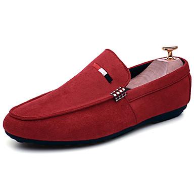 Męskie Buty PU Wiosna Jesień Comfort Mokasyny i pantofle na Na wolnym powietrzu Black Czerwony