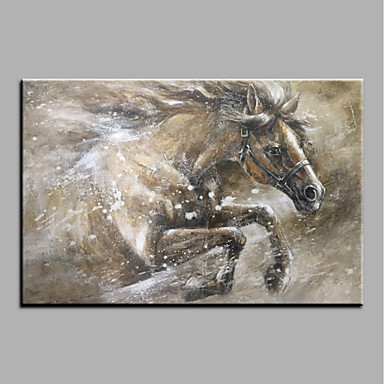 Hang-Malowane obraz olejny Ręcznie malowane - Zwierzęta Zwierzęta Nowoczesny Brezentowy