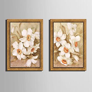 Oprawione płótno Zestaw w oprawie Krajobraz Kwiatowy/Roślinny Botaniczny Wall Art, PVC (polichlorek winylu) Materiał z ramą Dekoracja