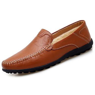 Herren Schuhe Gummi Frühling Herbst Komfort Loafers & Slip-Ons Für Schwarz Gelb Braun