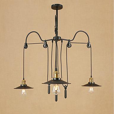 3-światło Żyrandole Światło rozproszone - Styl MIni, 3D, 110-120V / 220-240V Nie zawiera żarówki / 20-30 ㎡ / E26 / E27