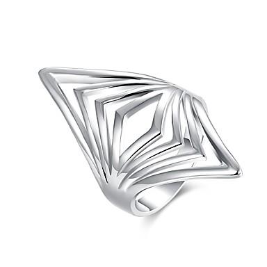 Damskie Pierścień oświadczenia 1 Silver Posrebrzany Geometric Shape Klasyczny Impreza Codzienny Biżuteria kostiumowa