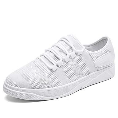 Męskie Buty PU Zima Jesień Comfort Tenisówki Na Casual White Black Gray