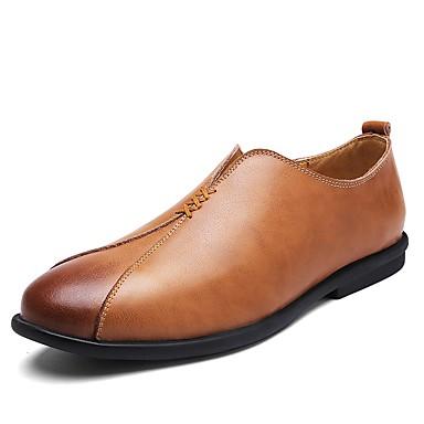 Męskie Komfortowe buty Skóra / Derma Wiosna / Jesień Mokasyny i pantofle Czarny / Light Brown / Dark Brown