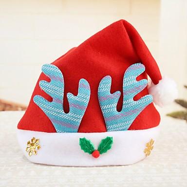 Święto Kostiumy Św. Mikołaja Czapki Czerwony Niebieski Różowy Tkanina Akcesoria do cosplay Boże Narodzenie