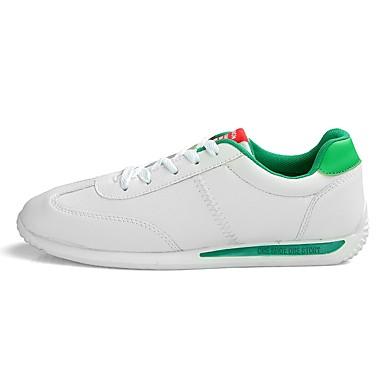 Herren Schuhe PU Frühjahr, Herbst, Winter, Sommer Komfort Leuchtende Sohlen Sportschuhe Walking Für Sportlich Normal Weiß Rot