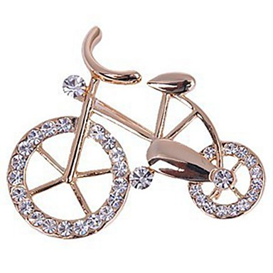 cheap Brooches-Women's Brooches Rhinestone Bike Ladies Sweet Elegant Brooch Jewelry Gold For Daily Casual