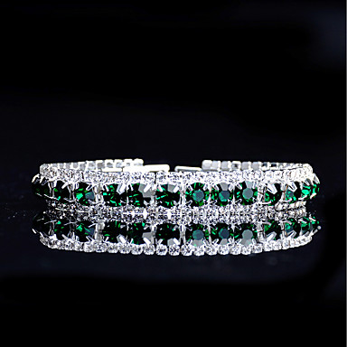 Damskie Bransoletki i łańcuszki na rękę Bransolety Tenis Turkusowy Rhinestone Kryształ górski Biżuteria Ślub Party Wieczór Biżuteria
