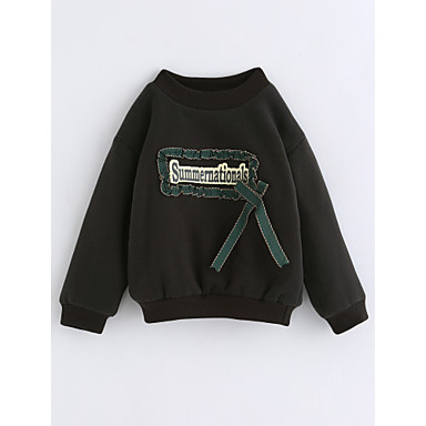Bluzka Bawełna Dla dziewczynek Jendolity kolor Zima Długi rękaw Clover