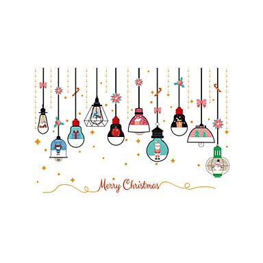 Art Deco Święta Bożego Narodzenia Naklejka okienna, PVC Materiał Dekoracja okna