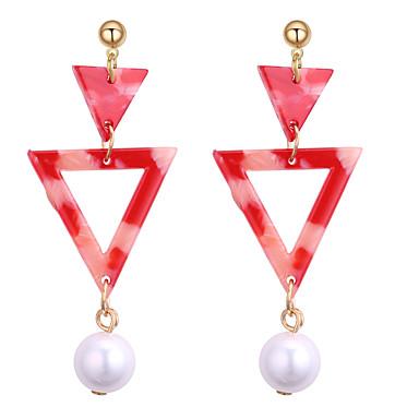 Damskie Pearl imitacja Kolczyki wiszące - Yellow, Czerwony, Niebieski