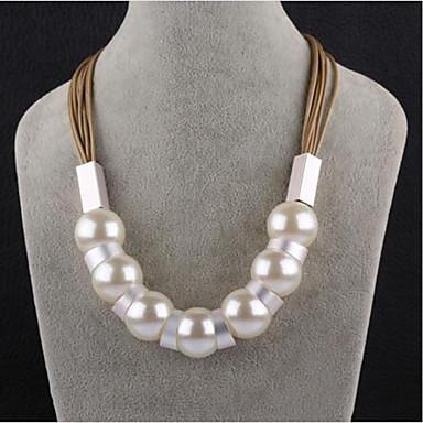 Damen Kreisform Gestalten Modisch Ketten Imitierte Perlen Künstliche Perle Ketten Alltag Arbeit Modeschmuck