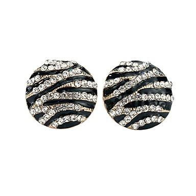 Damskie Kryształ Kolczyki na sztyft - Podstawowy Black Circle Shape Kolczyki Na Impreza Ceremonia