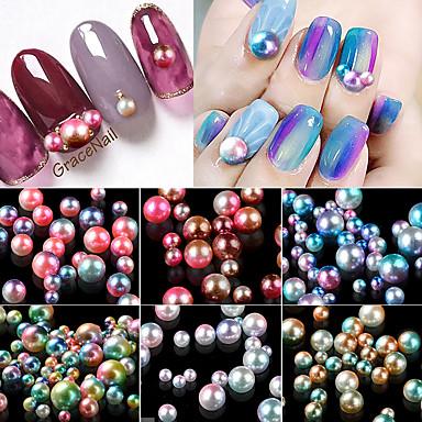 1 Biżuteria do paznokci Okrągły Modny Słodkie Słodki Wysoka jakość Codzienny Nail Art Design