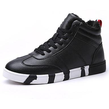 Męskie Buty Syntetyczny Microfiber PU PU Jesień Zima Comfort Tenisówki na Casual White Black Czerwony