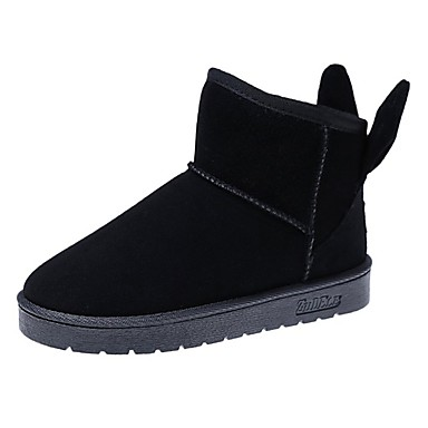 Damen Schuhe Wildleder Winter Schneestiefel Stiefel Runde Zehe Mittelhohe Stiefel Für Normal Schwarz Grau Rosa