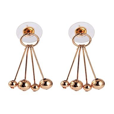 Damskie Kolczyki wiszące Podstawowy Stop Circle Shape Biżuteria Gold Silver Ulica Randka Biżuteria kostiumowa