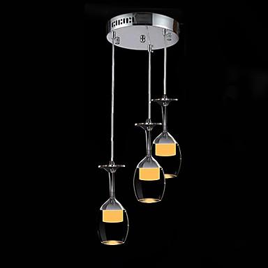SL® 3-Licht Cluster Pendelleuchten Raumbeleuchtung Chrom Glas Glas LED 110-120V / 220-240V Wärm Weiß / Kühl Weiß LED-Lichtquelle enthalten / integrierte LED