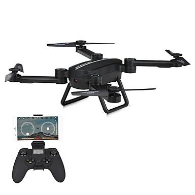 billige Fjernstyrte quadcoptere og multirotorer-RC Drone JIESTAR X8TW RTF 4 Kanaler 6 Akse 2.4G Med HD-kamera 720P Fjernstyrt quadkopter FPV / LED Lys / En Tast For Retur Fjernstyrt Quadkopter / Fjernkontroll / USB-kabel / Auto-Takeoff / Sveve