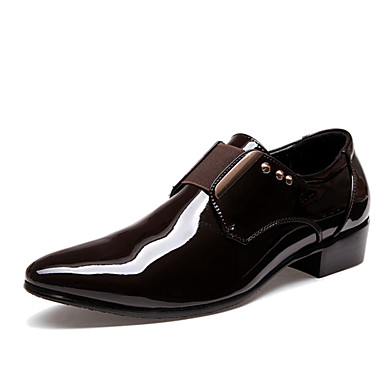 Men's Novelty Shoes PU(Polyurethane) Summer / Fall Wedding Shoes Black & / Brown / Party & Black Evening / Dress Shoes f80d18