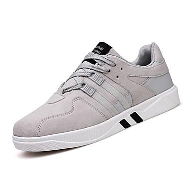 Herren Schuhe Kaschmir Frühling Herbst Komfort Sneakers Schnürsenkel Für Normal Schwarz Grau Schwarz/weiss Schwarz/Rot