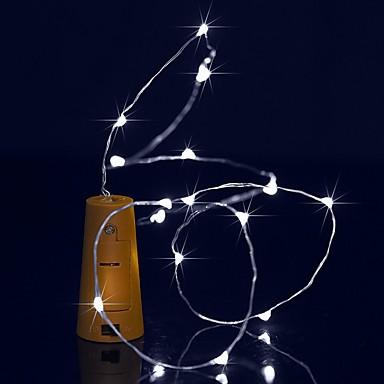 BRELONG® Łańsuchy świetlne 15 Diody LED Ciepła biel Biały Fioletowy Zielony Niebieski Wodoodporne <5V