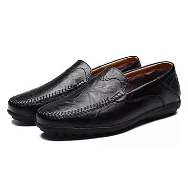 Męskie Buty PU Zima Jesień Comfort Mokasyny i pantofle na Casual Black Yellow Brown