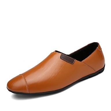 Herrn Schuhe Leder Frühling Herbst Komfort Loafers & Slip-Ons Kombination für Normal Schwarz Braun Blau