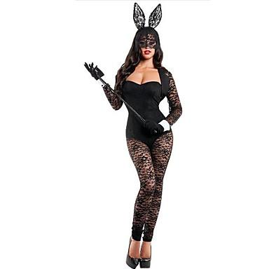 Bunny Girls Kostiumy Cosplay Damskie Boże Narodzenie Halloween Karnawał Oktoberfest Nowy Rok Festiwal/Święto Kostiumy na Halloween Black