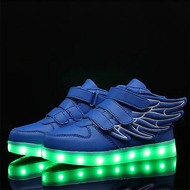 Para Meninos Sapatos Couro Ecológico Verão / Outono Conforto / Inovador / Tênis com LED Tênis Caminhada Cadarço / Colchete / LED para