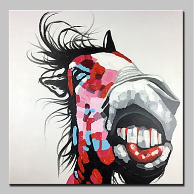 Ręcznie malowane Zwierzęta Kwadrat, Zwierzęta Nowoczesny Brezentowy Hang-Malowane obraz olejny Dekoracja domowa Jeden panel