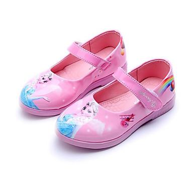 Mädchen Schuhe Kunstleder Frühling Herbst Schuhe für das Blumenmädchen Flache Schuhe Für Normal Weiß Schwarz Rot Rosa
