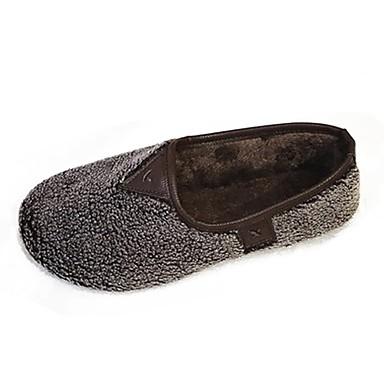 Damskie Obuwie Kaszmir Zima Comfort Mokasyny i pantofle Okrągły Toe na Casual Black Beige Dark Brown