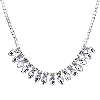 Damskie Kryształ, Rhinestone Naszyjniki z wisiorkami - Kryształ Silver