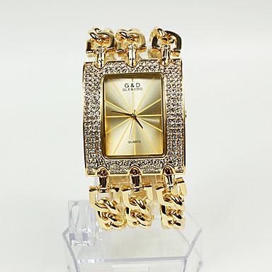 Kadın's Bayan Moda Saat Bilezik Saat Japonca Quartz 30 m Gündelik Saatler Alaşım Bant Analog Işıltılı Altın Rengi - Altın İki yıl Pil Ömrü / Sony SR626SW