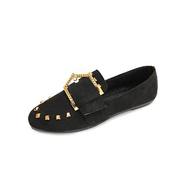 Mulheres Sapatos Couro Ecológico Primavera / Verão Sandálias Caminhada Dedo Apontado Presilha para Preto / Camel