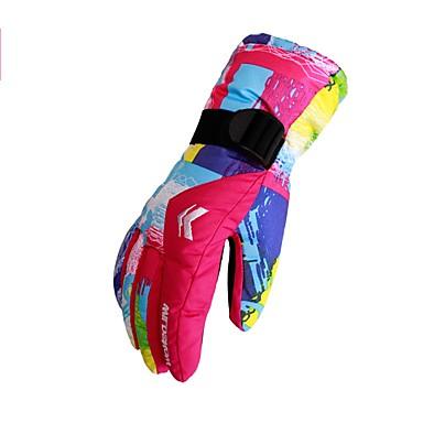 Rękawice narciarskie Męskie Full Finger Keep Warm Poliester druku Narciarstwo Piesze wycieczki Outdoor Exercise Kolarstwo / Rower Zima
