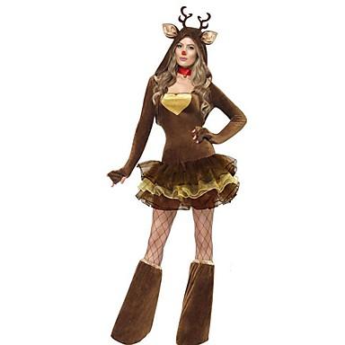 Tier Weihnachtsmann Kostüm Damen Weihnachten Maskerade Fest / Feiertage Halloween Kostüme Austattungen Kaffee Solide Urlaub